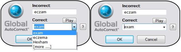 Support for Global AutoCorrect